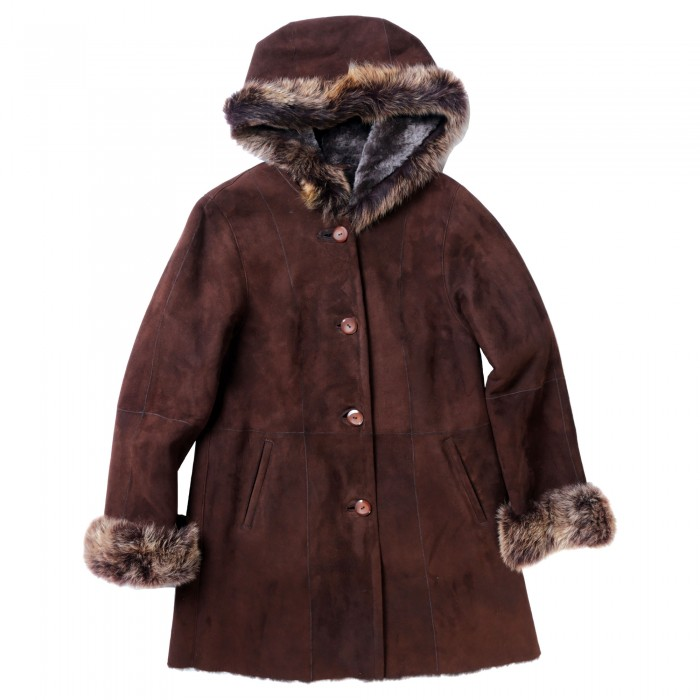 Garnet Shearling Coat