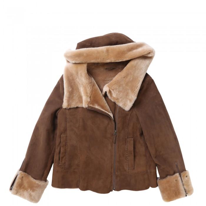 Sheila Shearling Jacket w/hood