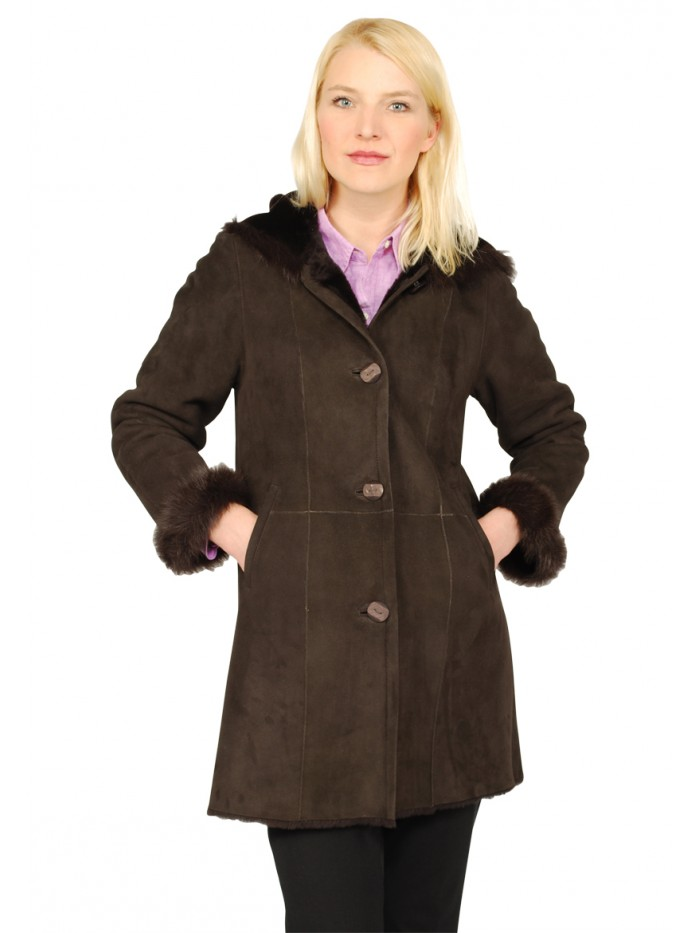 Delphine Shearling Coat
